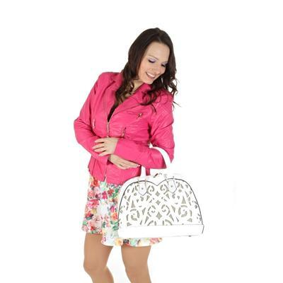 Koženková bunda Lionela růžová - 2