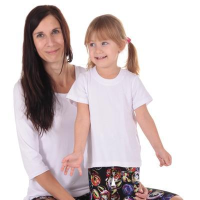 Dětské tričko krátký rukáv Laura bílé od 98-116 - 2