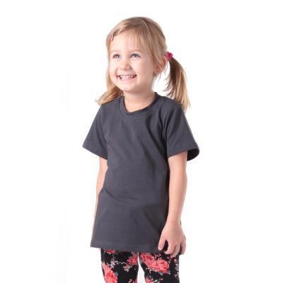 Šedé dětské tričko krátký rukáv Laura od 98-116 - 2