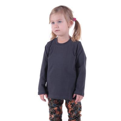 Dětské tričko dlouhý rukáv Marlen šedé od 98-116 - 2