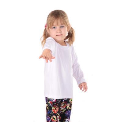Dětské tričko dlouhý rukáv Marlen bílé od 98-116 - 2