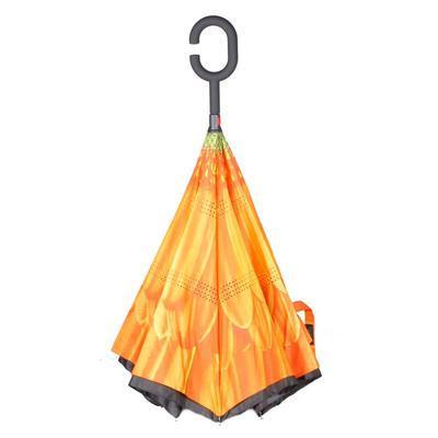 Obrácený deštník Ella oranžový - 2