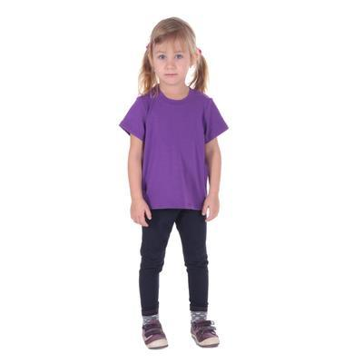 Fialové dětské tričko krátký rukáv Laura od 98-116 - 2
