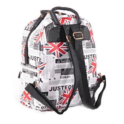 Stylový batoh s potiskem Just černý - 2