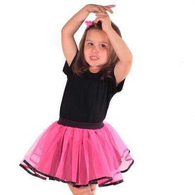 Dívčí tylová tutu sukně Nesy neonově růžová - 2