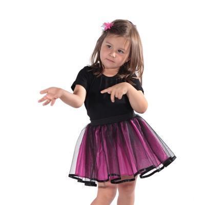 Dívčí tylová tutu sukně Nesy tmavě růžová - 2