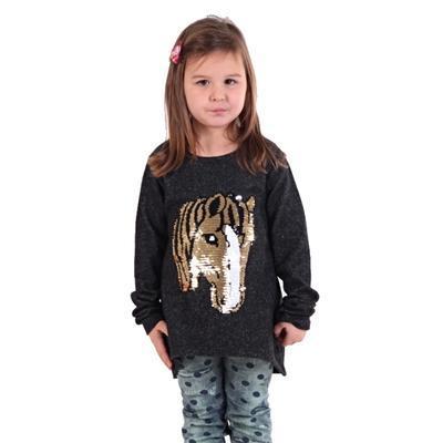 Dívčí svetr s měnícím obrázkem Pedro černý - 2