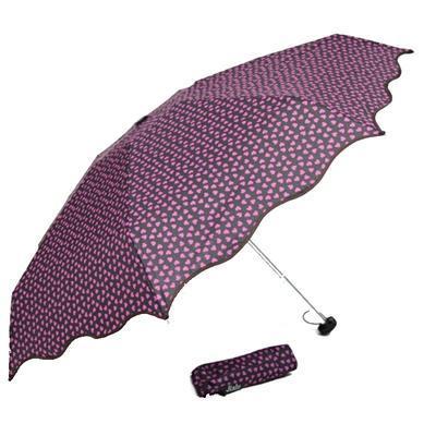 Skládací fialový mini deštník Love - 2