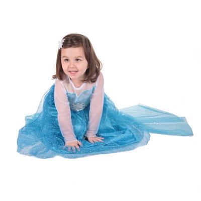 Karnevalový kostým princezna Elsa modrý - XS, XS - 2