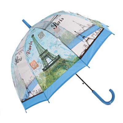 Průhledný dámský deštník Dean světle modrý - 2