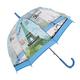 Průhledný dámský deštník Dean světle modrý - 2/2