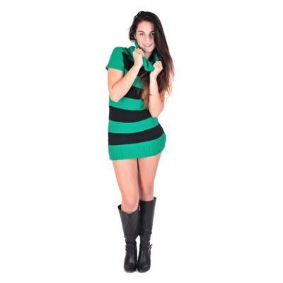 Zelený rolák Nikola s krátkým rukávem - 2