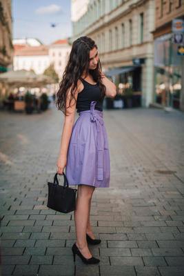 Fialová zavinovací sukně Ammy bez potisku - 2