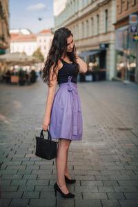 Fialová zavinovací sukně Ammy bez potisku - 2/4