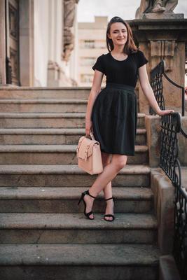 Černá zavinovací sukně Elisabeth bez potisku - 2