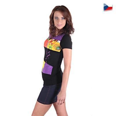 Elegantní tričko Naill  fialové - 3