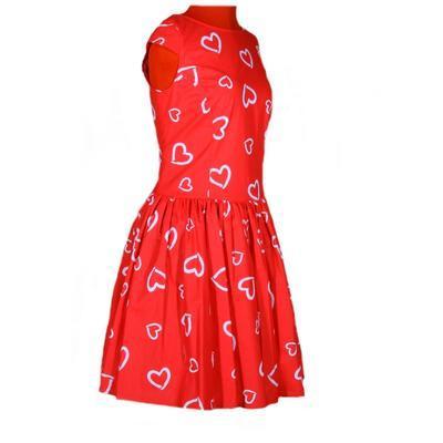 Červené šaty Florenc se srdíčky - 3