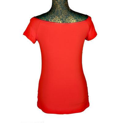 Červené tričko s krátkým rukávem Marika - 3
