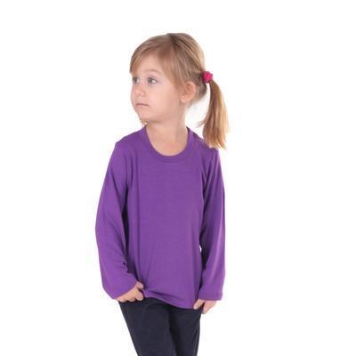Dětské tričko dlouhý rukáv Marlen fialové od 122-152 - 3