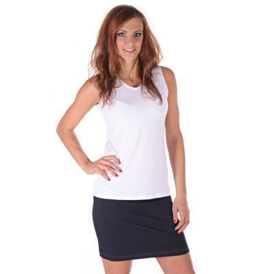 Bílé tričko s širokými ramínky Tamara - 3