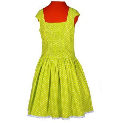 Zelené šaty Elisha s puntíky - 3