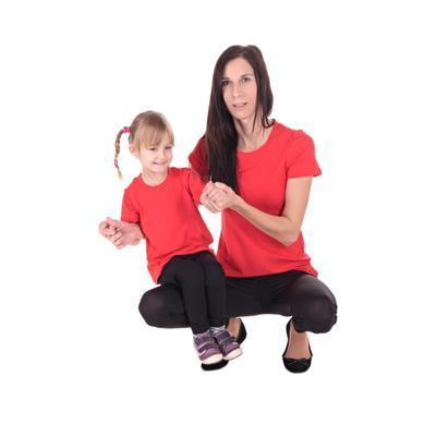 Červené dětské tričko krátký rukáv Laura od 122-146 - 3