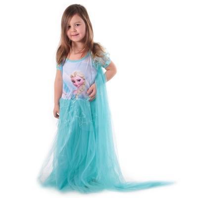 Karnevalový kostým princezna Elsa tyrkysový - 3