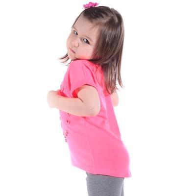 Neonově růžové tričko Love - 3