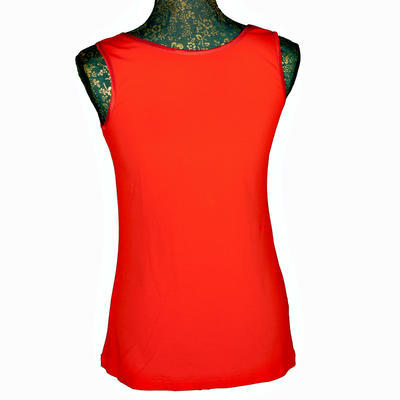 Červené tričko s širokými ramínky Jolana - 3
