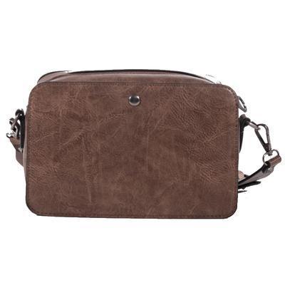 Mini kufříková kabelka Greys tm. hnědá - 3