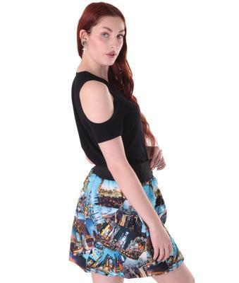 Černé tričko s krátkým rukávem Karin - 3