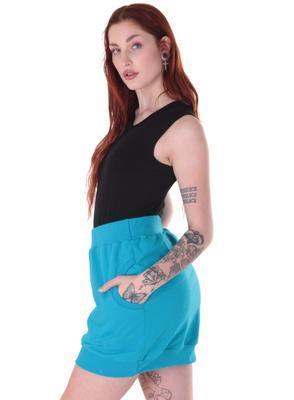 Modrá bavlněná sukně Dominika - 3