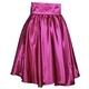 Tmavě růžová saténová sukně s pevným pasem Kimberly - 3/4