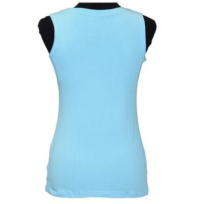 Světle modré tričko s širokými ramínky Amanda - 3