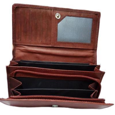 Dámská luxusní peněženka Esther hnědočervená - 3