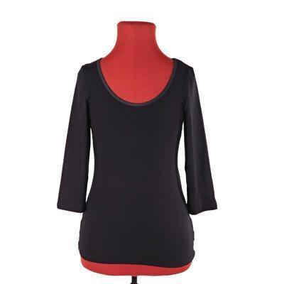 Luxusní dámské tričko s 3/4 rukávem Mia černé - 3