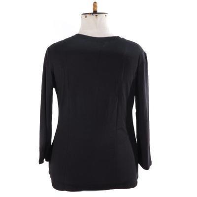 Černé tričko s midi rukávem Kristin - 3