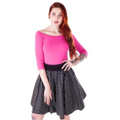 Růžové tričko s midi rukávem Klaudie - 3