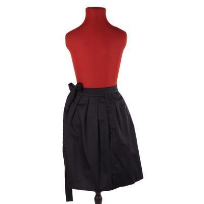 Černá zavinovací sukně Elisabeth bez potisku - 3