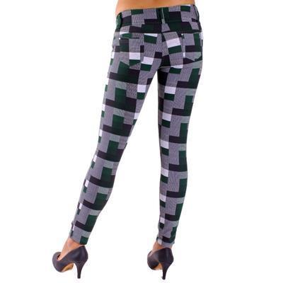 Kalhotové legíny Smokie zelené - 3