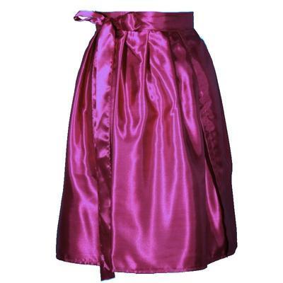 Tmavě růžová saténová zavinovací sukně Victorie - 3