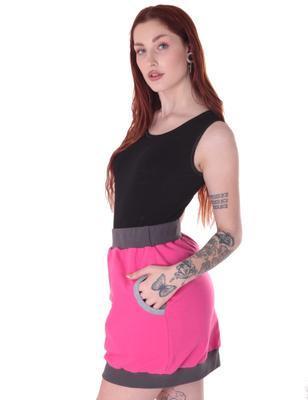 Růžová bavlněná sukně Rozalie - 3