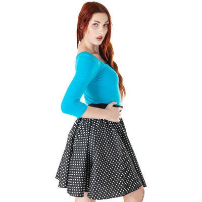 Modré tričko s midi rukávem Mia - 3