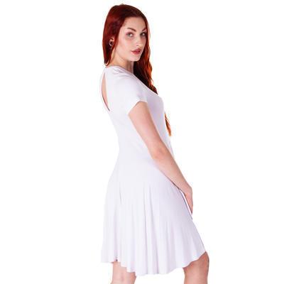 Bílé šaty bez potisku Tanasis - 3