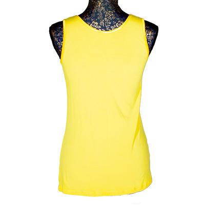 Žluté tričko s širokými ramínky Jolana - 3