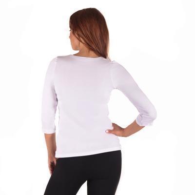 Bílé tričko s midi rukávem Kristin - 3