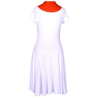 Bílé jednobarevné šaty Zaira - 3