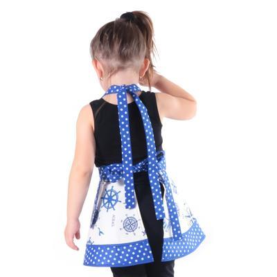 Dívčí modrá zástěra Dorin s kormidly - 3