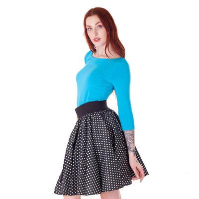 Modré tričko s midi rukávem Vanesa - 3