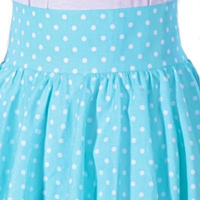 Dámská retro sukně Blue modrý puntík - 3